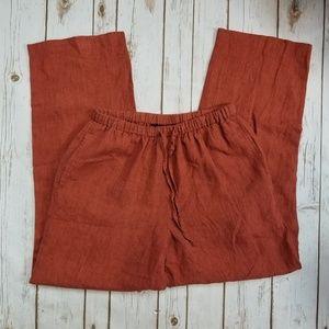 Rafaella | Rust Linen Pants